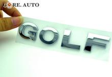 125mm*25m*4mm Silver GOLF Lettering Car Side Stripe Body Badge Sticker Silver GOLF Emblem 645sv(China (Mainland))