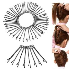 Buy Hair Clips Bobby Pins Invisible Curly Wavy Grips Salon Hairpin Black Metal Clips Hair Styling Tools 36pcs/card*5 card=180pcs for $14.21 in AliExpress store