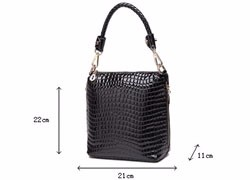 Crocodile Printing PU Leather Hand Bag Women Stylish Bucket Bag Lady Luxury Gorgeous Shoulder Bag Occident Style Crossbody Bag