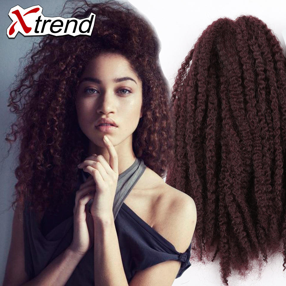 Crochet Braids Sale : Hot sale 18inch 100g afro kinky twist hair crochet braids muliti color ...