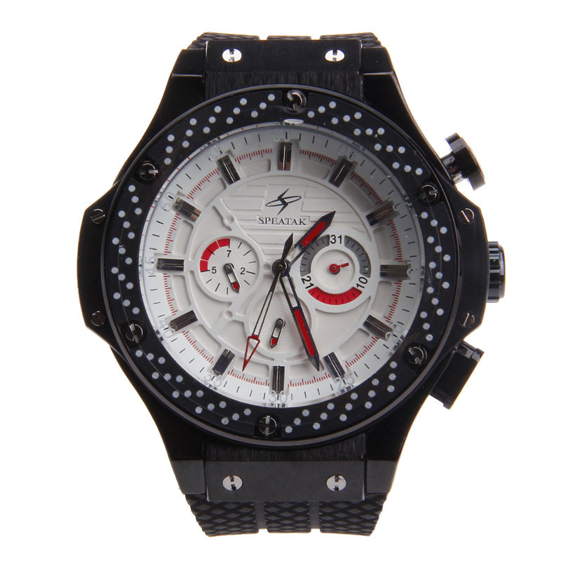 Brand Fashion Man's Watches Automatic Self Winding Mechanical Silicone Band Watch Date/Week/24 Hours Display-SP9040G - NancyF store