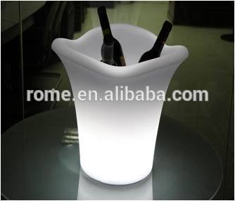 plastic glow color changing wine cooler bucket(China (Mainland))