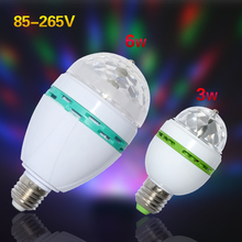 Buy 1Pcs E27 3W 6W RGB Stage LED Light Auto Rotating Holiday Lamp AC85V-265V Disco DJ Party Holiday Dance Bulb Christmas Lighting for $2.26 in AliExpress store