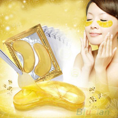 2016 Высокое качество 5 упак. увлажняющий глазных повязок лист красоты золотой кристалл ...