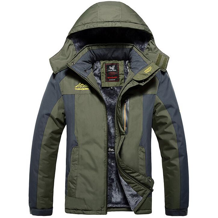 2015 Brand Men Winter Jacket Thick Men Coats Outdoors Ski-wear High quality Stand Collar Climbing Sport Jacket Large size S-6XLÎäåæäà è àêñåññóàðû<br><br>
