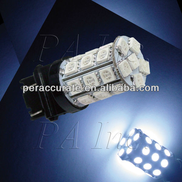 2 pieces x 30 5050 SMD LED Tail Stop Brake Light Bulb 3157 3156 White Color(Taiwan)