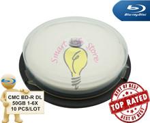 CMC BD-R DL 50GB 1-6X - 10 PCS/Lot - White Inkjet Printable / bluray / blu ray disc / blue ray / blu-ray disc 50gb / bdr 50gb(China (Mainland))