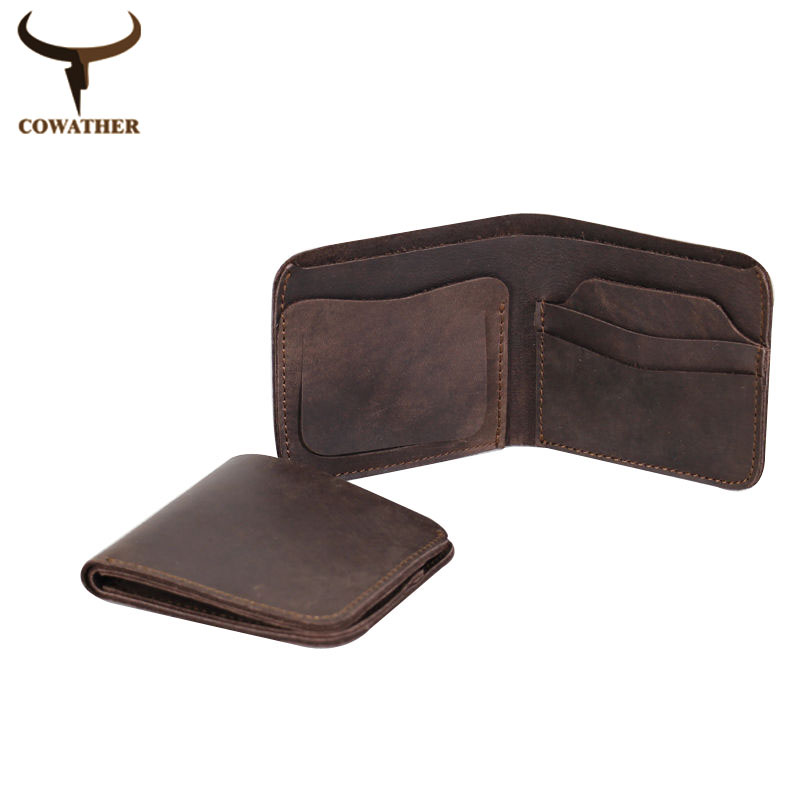 2015 Vintage cross style cow genuine leather wallets for men top high quality