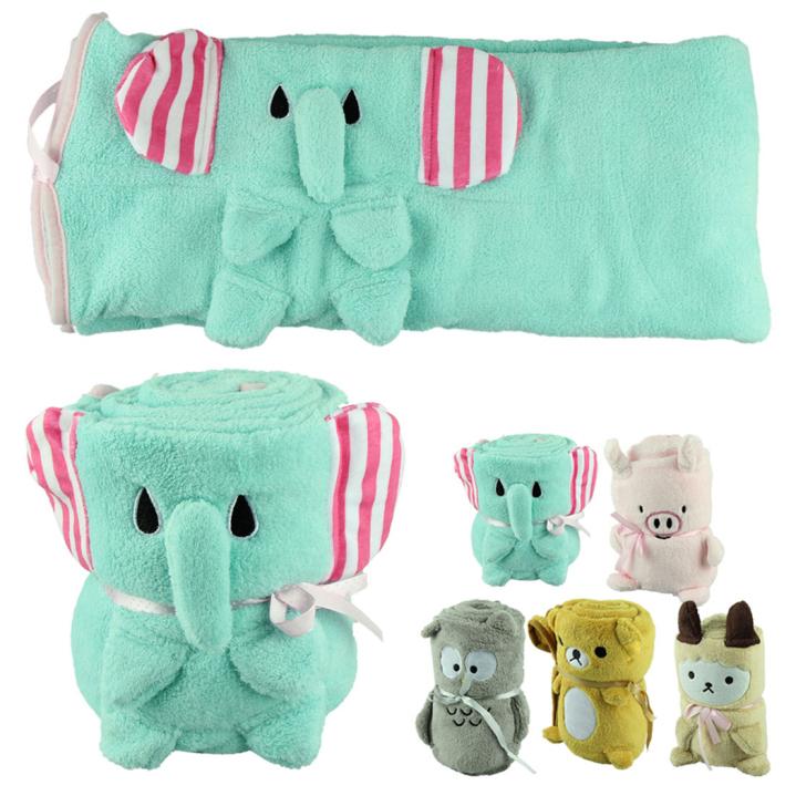 Гаджет  Amazing Cartoon Animal Coral Fleece Newborn Baby Blanket Super Soft Bedding Infant Quilt Children