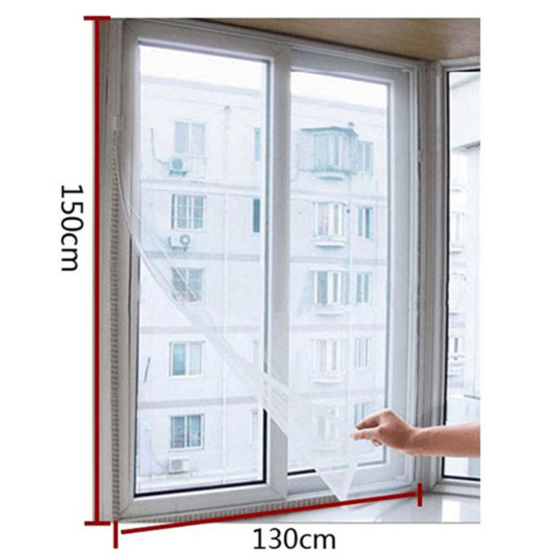 DIY Insect Fly Mosquito Window Net Mesh Screen Curtains Protector Flyscreen Worldwide 130*150cm