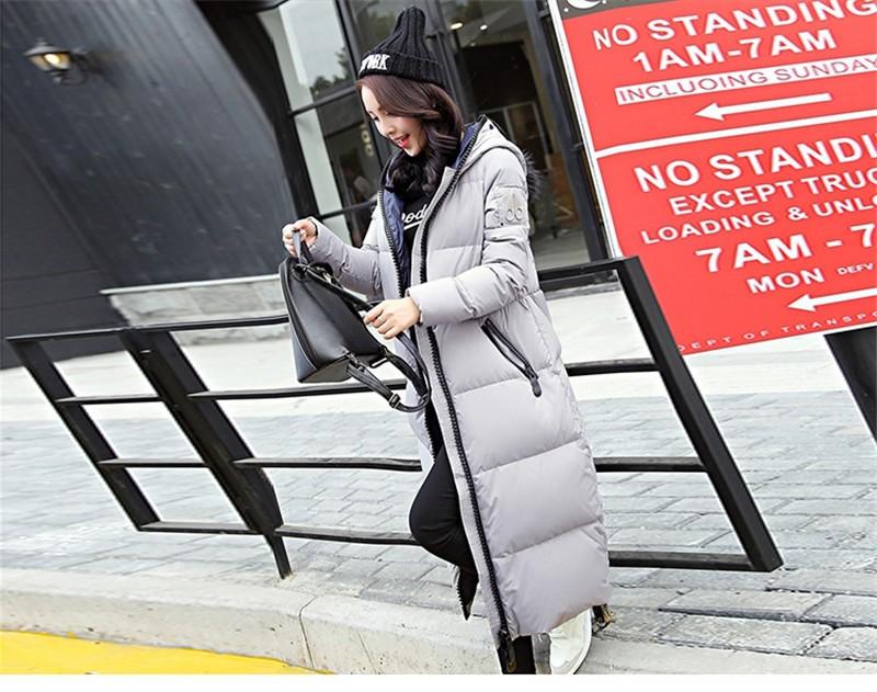 Скидки на 2016 Зимнее Пальто Женщин Мода Плюс Размер женщин Зимняя Куртка женщины Вниз Пальто Куртки Студенческие Теплые Капюшоном Женщина Куртка Пальто C460