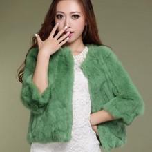2016 Brand New Vestidos WAQIA Candy Colors Christmas Rabbit Fur Coat Cardigans Vestidos Outwear Coat Slim Winter Jacket Womens(China (Mainland))