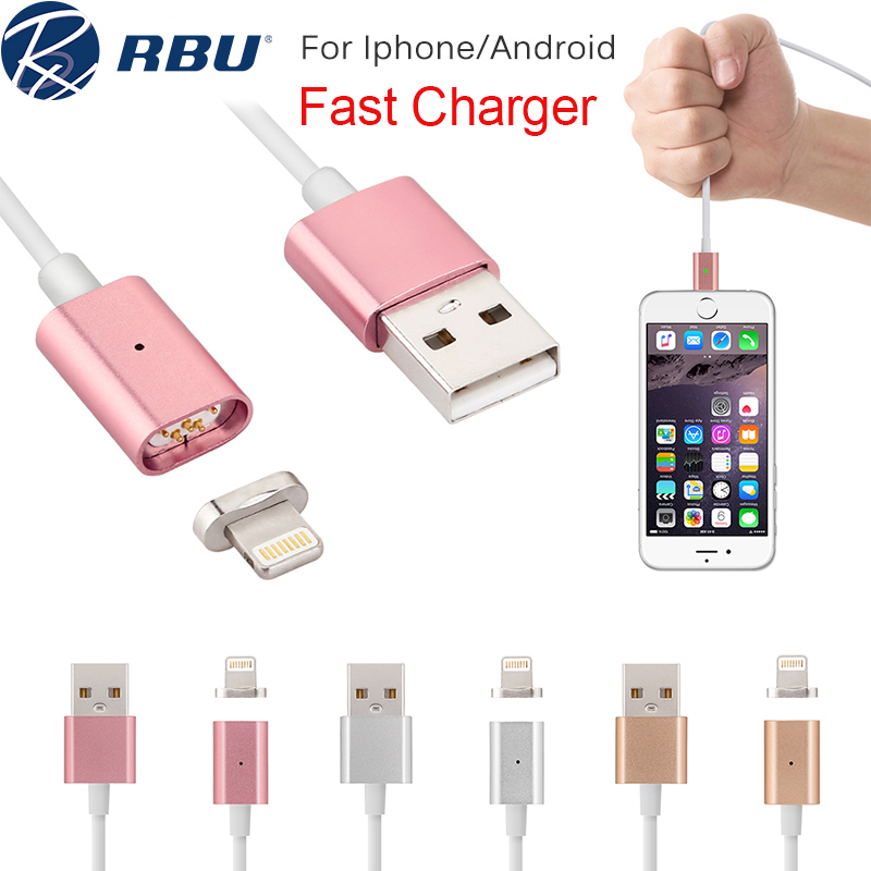 2.4A Fast Micro USB Metal Lighting Magnetic Charger Cable Magnet Nylon/PVC Power Adapter Data Cables For Samsung Android iPhone(China (Mainland))