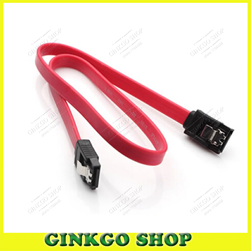 100pcs/lot SATA Data Serial Port Hard Disk Cable CD-ROM Serial data Connection Cable with Card Buckle Free Shipping(China (Mainland))