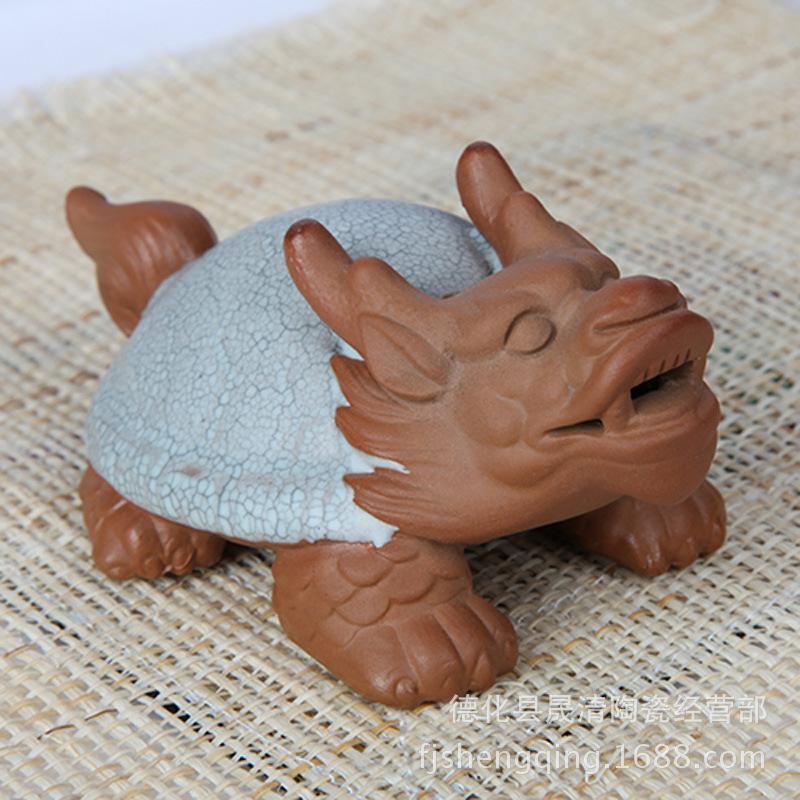 Wholesale Ru tea opens the piece tea pet dragon turtle animal play italics Ru Tea Set Decoration Accessories<br><br>Aliexpress