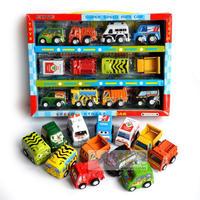 1set разноцветные пластиковые мини-тянуть обратно модель автомобиля образовательные игрушки детям