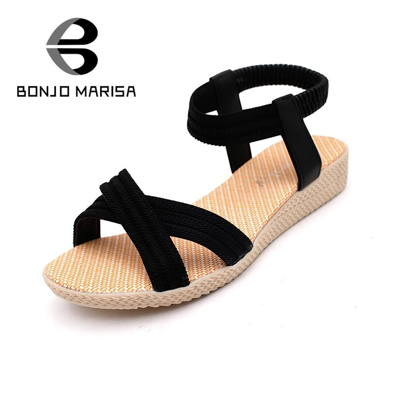 factory sale solid 3 colors elastic band women sandals leisure easy walking slingbacks platform summer shoes concise beach shoes(China (Mainland))
