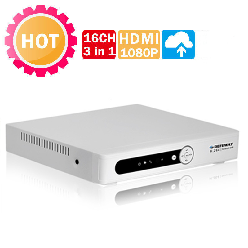 Full 960H D1 Real time HDMI 1080P Output 16ch Hybrid DVR onvif NVR for IP camera 3 in 1 CCTV DVR Recorder network video recorder(China (Mainland))