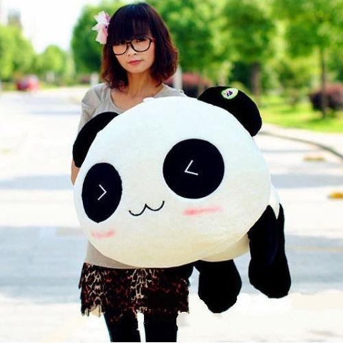 "03 Kawaii Plush Doll Toy Animal Giant Panda Pillow Stuffed Bolster Gift 70CM 28""(China (Mainland))"