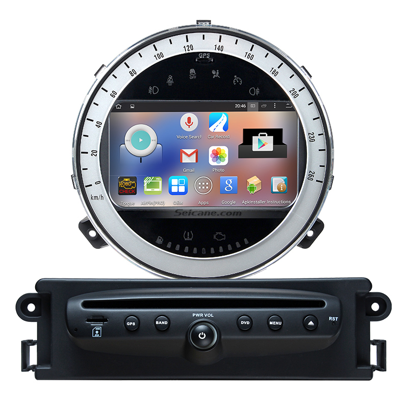 Seicane Android 5.1.1 GPS Navigation for 2006-2013 BMW Mini Cooper Car Radio DVD with 1024*600 Bluetooth steering-wheel control(China (Mainland))