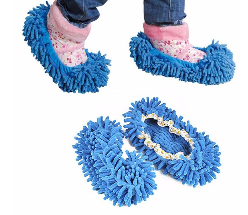 1 pair Dust Cleaner Grazing Slippers House Bathroom Floor Cleaning Mop Cleaner Slipper Lazy Shoes Cover Microfiber Hot Selling(China (Mainland))