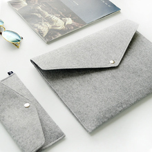 A4 Chemical Felt File Folder Durable Briefcase Document Bag Paper File Folders Carpetas Stationery store School Supplies(China (Mainland))