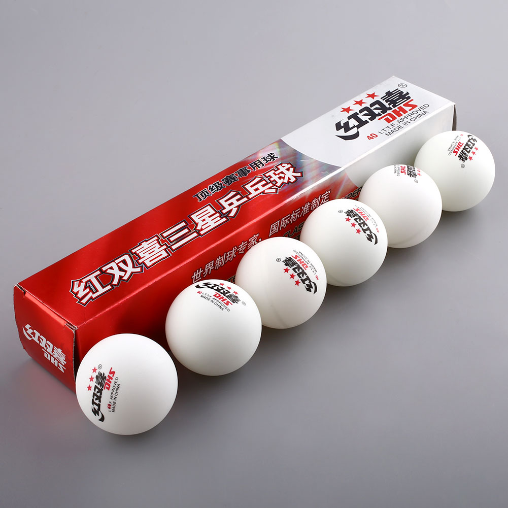 6PCS /1 Boxes 3 Stars DHS 40mm Olympic Tennis White Ping Pong Balls Table Tennis Balls Professional(China (Mainland))