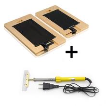 Бесплатная Доставка 2 шт./лот удалить клей плесень для Iphone 4 4s 5 5s 5C 6 6 плюс ЖК-экран ремонт + 60 Вт Удаления УФ клея пайки утюг