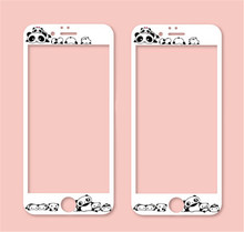 For iPhone 6 3D cute carton glass film for iPhone6 4.7 film Front phone Screen Protectors film