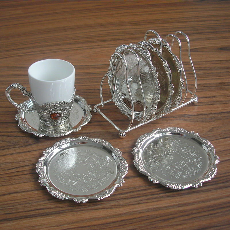 6PCSset rare zinc alloy metal round coffeetea cup  : 6PCS set rare zinc alloy metal round coffee tea cup coaster cup pad mat with wire from www.aliexpress.com size 800 x 800 jpeg 168kB