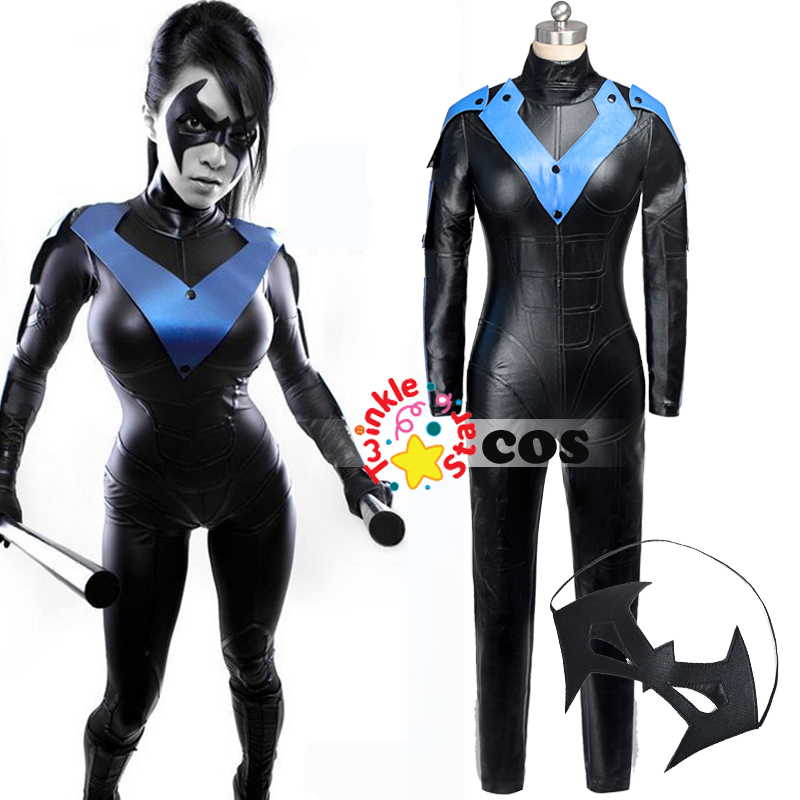 2015 Halloween costumes for adult women Batman Arkham City Nightwing costume cosplay batman Nightwing cosplay costume for women(China (Mainland))