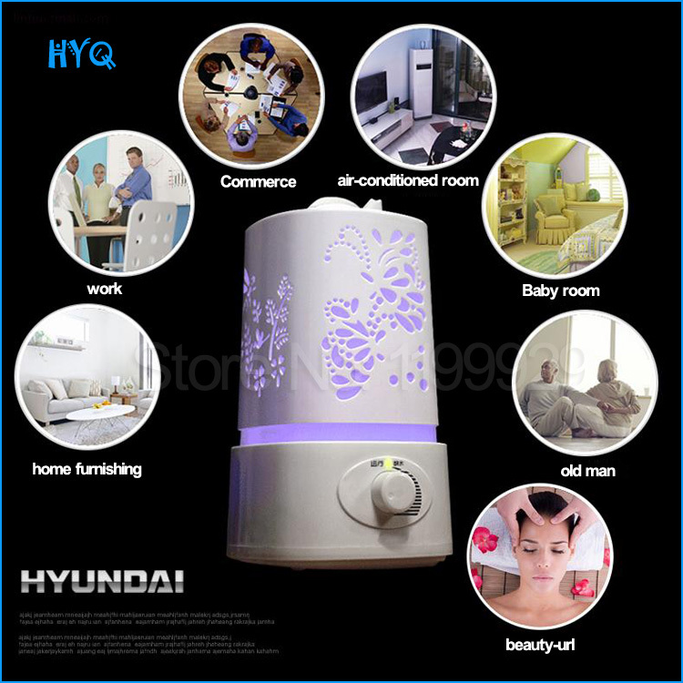 Ultrasonic Air Purifier Led Lamp Cool Mist Aroma Diffuser + Essential Oil Mini Humidifier Home - HYQ's store