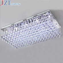 M 2016 Newest Modern K9 Crystal Ceiling Light Rectangular Ceiling Lighting Foyer Room Lighting Multi Lights Crystal Ceiling Lamp(China (Mainland))