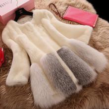 Baou with faux fur coat and long section of Haining female imitation mink fur coat fur coat female(China (Mainland))