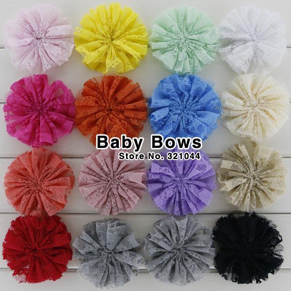 800pcs/lot 2.8-3'' Boutique Ballerina Lace Flower Chiffon Flower Hair Flowers Hair Accessories Garment Accessories Free Shipping