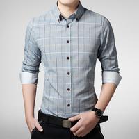 Мужская повседневная рубашка 2015 Camisa Masculina 2M 0142 2M0142