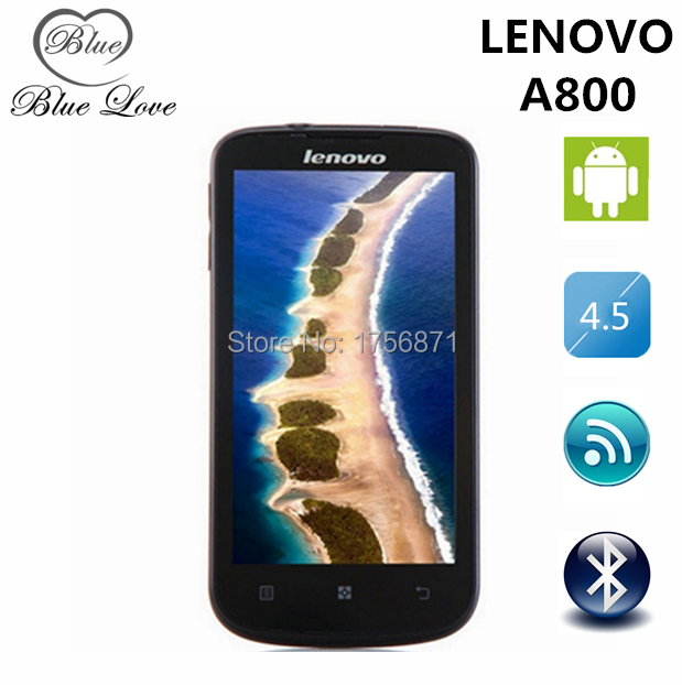 Original Lenovo A800 4.5' 3G WCDMA mtk6577 android 4.0 4GB ROM 512MB RAM Russian Menu GPS WIFI smart mobile phone(China (Mainland))