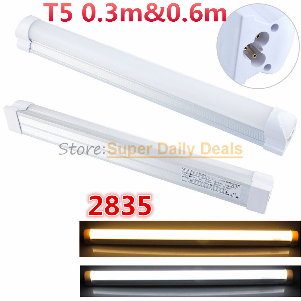 10pic/lot T5 neon LED fluorescent Tube Light Lampada 30cm Integrated 0.3m 300mm 6W Lamp AC110V220V240V Warm/Cold/Natural White(China (Mainland))