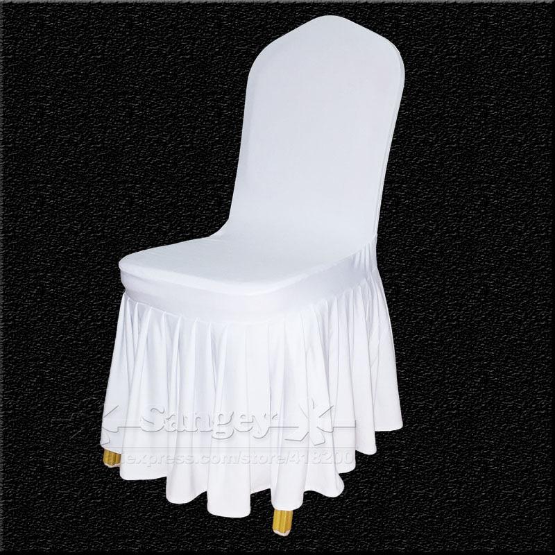 white spandex wedding chair covers for weddings banquet folding hotel