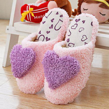 2013 slippers Indoor slippers woman live in coral fleece cotton warm slippers Free shipping(China (Mainland))