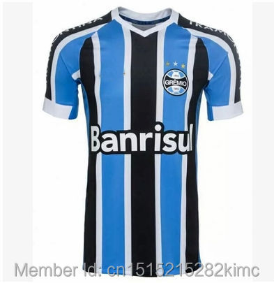 The Pakistan League 15-16 Gremio home court away white football clothes blue best quality in Thailand(China (Mainland))