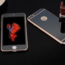 Front + Back 2.5D For iphone 6 6s plus 5.5inch Colorful Mirror Plating Premium Tempered Glass film Screen Protector NO LOGO
