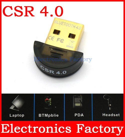 New Mini USB Dual Mode Wireless Bluetooth CSR 4.0 dongle Adapter 20m for Cell Phone PC Computer Laptop Earphones Win7 8 xp(China (Mainland))
