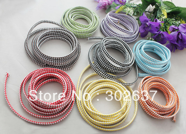 8 Meters of Mixed Knitted Leather Cord 9.5x4mm #22524 FREE SHIPPING