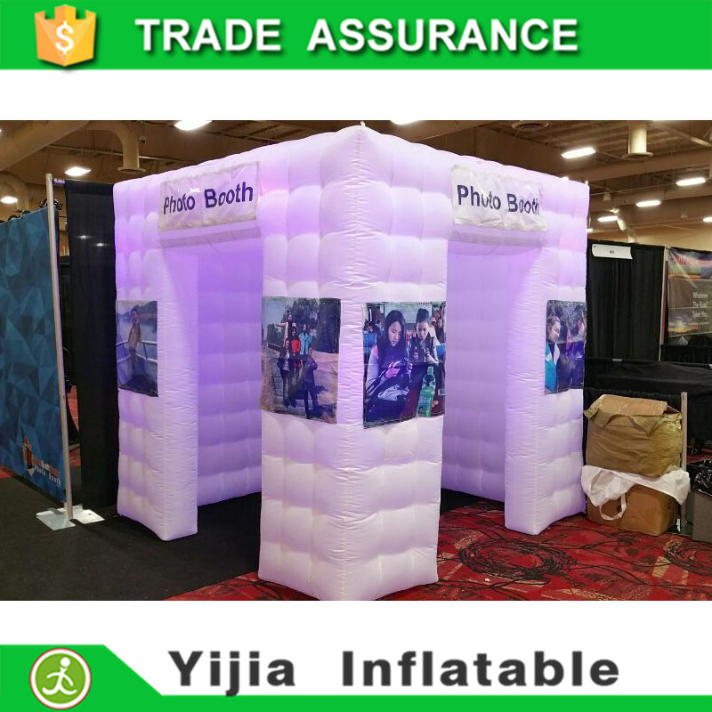 colorful portable inflatable spray booth cube photo booth tent(China (Mainland))