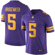 2016 Rush Limited Men's Minnesota Vikings Teddy Bridgewater Purple Color Top Quality,camouflage(China (Mainland))