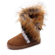 MCCKLE kadın kar botları artı boyutu taklit kürk kış yarım çizmeler dikiş Flats kadın konfor ayakkabı platform ayakkabılar Drop Shipping(China)