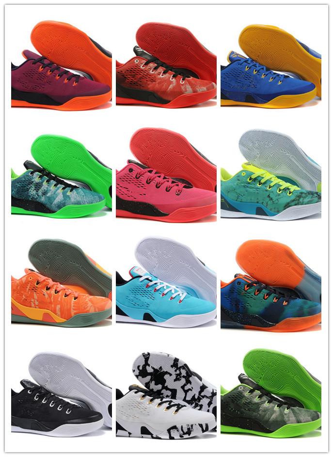 Brand Sports Shoes For Sale 2015 New Arrival kb 9 IX Low Elite Men's Basketball Shoes IX Men Authentic Athletic Shoes(China (Mainland))