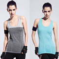2016 New Arrival 5 Colours Women Yoga Shirts Elastic Breathable Quick Dry Gym Fitness Vest Yoga