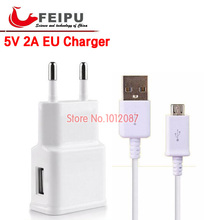 Feipu 5V 2A EU Travel Wall Charger + micro USB Cable For Samsung Galaxy S4 i9500 S3 i9300 note 2 note 3 s5 s6 for htc lg g3(China (Mainland))